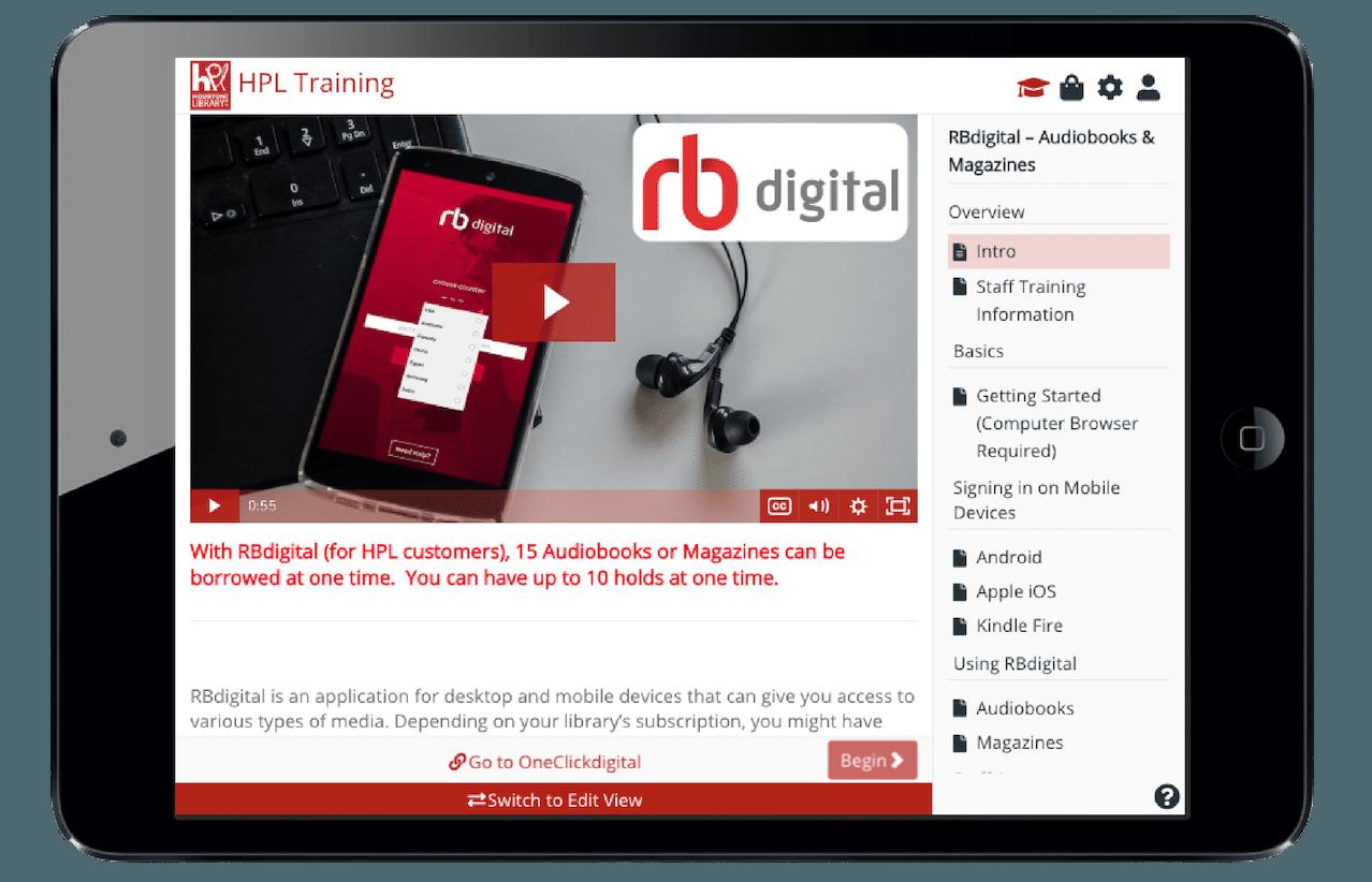 RBdigital learner