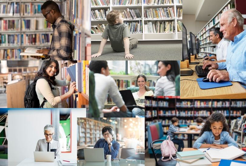 library montage