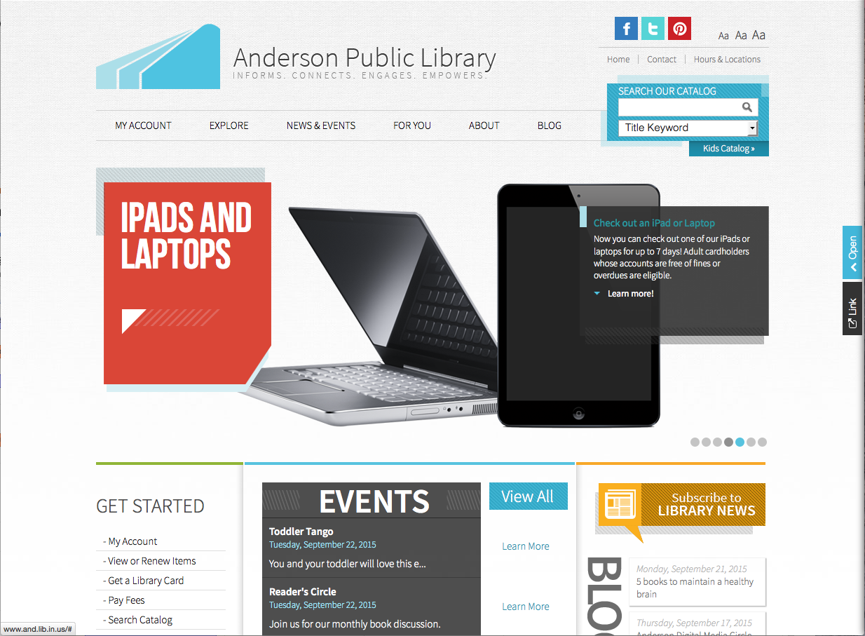 Anderson Public Library Home Page